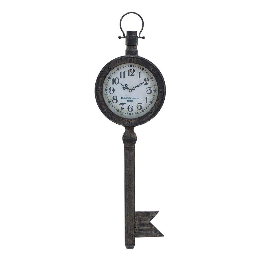 Woodland Imports Metal Key Analog Novelty Indoor Wall Clock