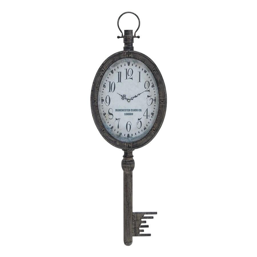 Woodland Imports Elegant Key Analog Novelty Indoor/Outdoor Wall Clock