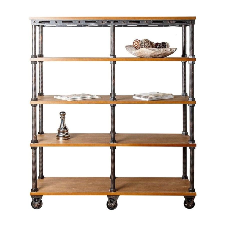 Pacific Loft Beige Metal 4-Shelf Bookcase
