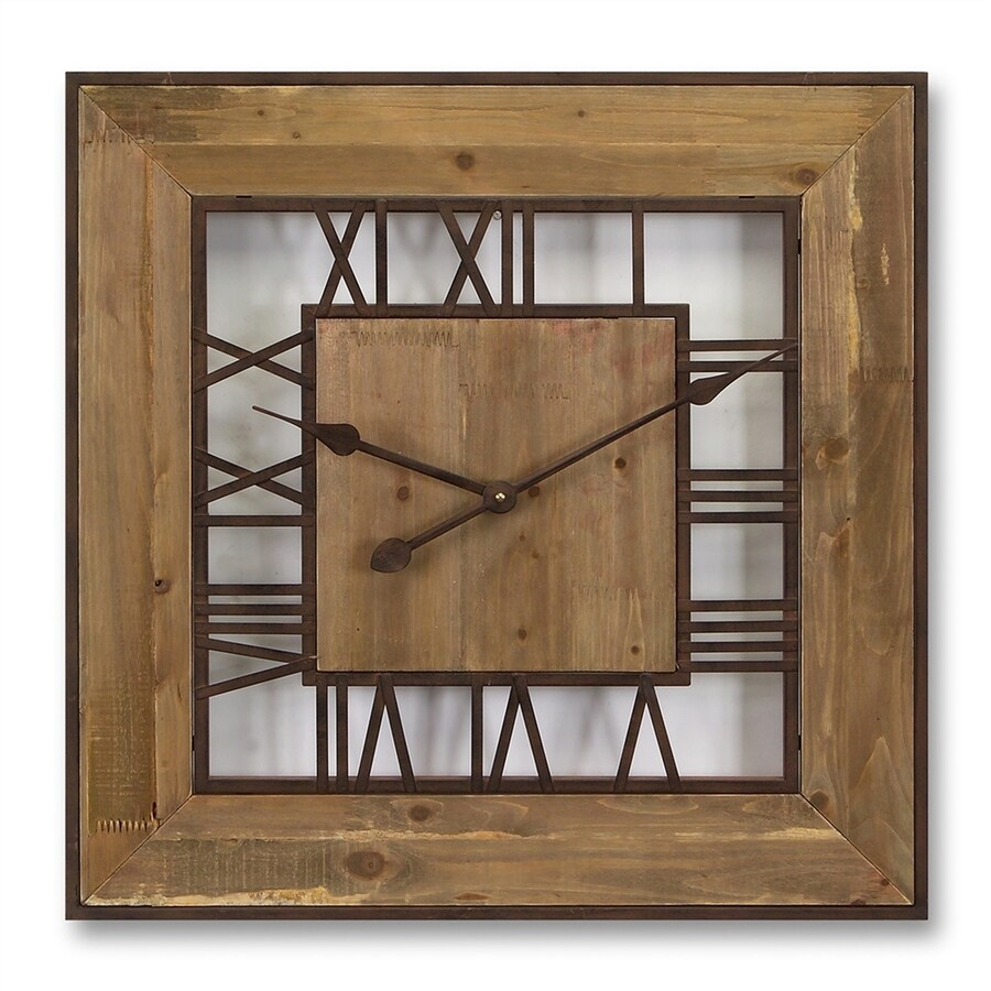 Melrose International Analog Square Indoor Wall Clock
