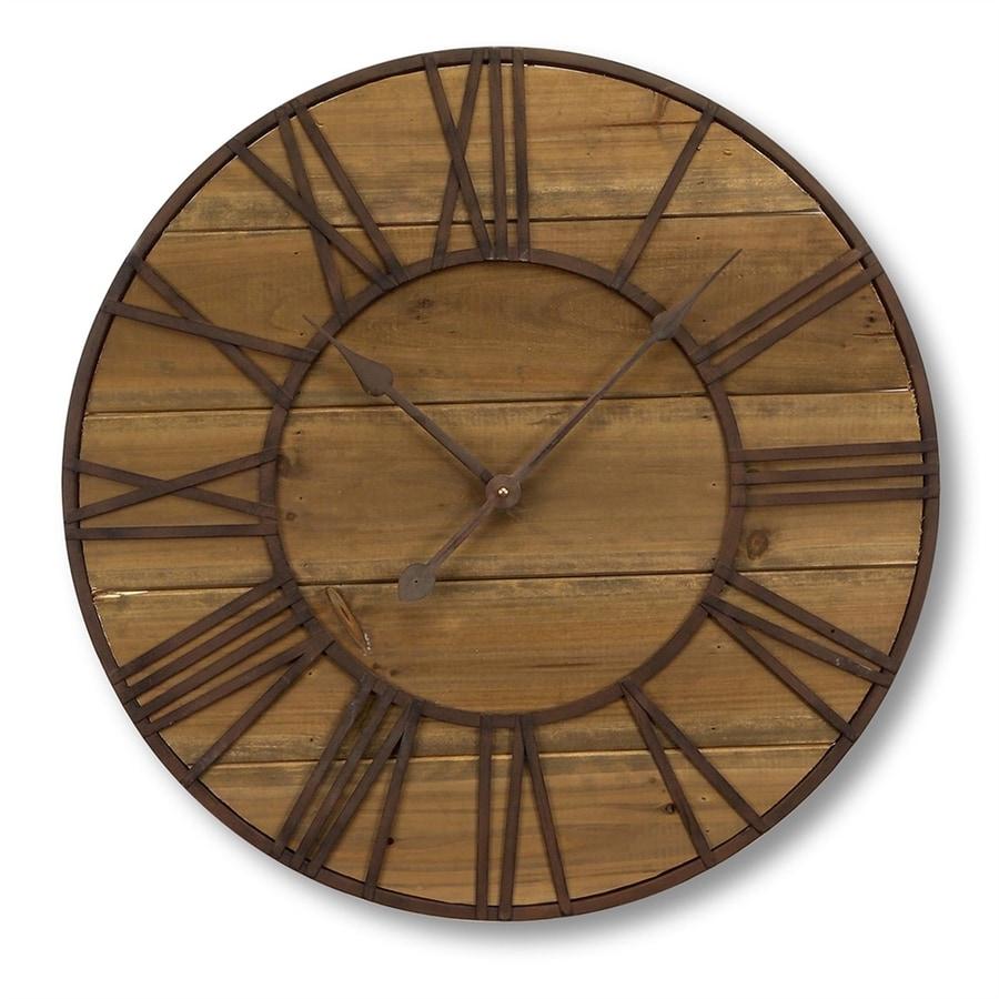 Melrose International Analog Round Indoor Wall Clock