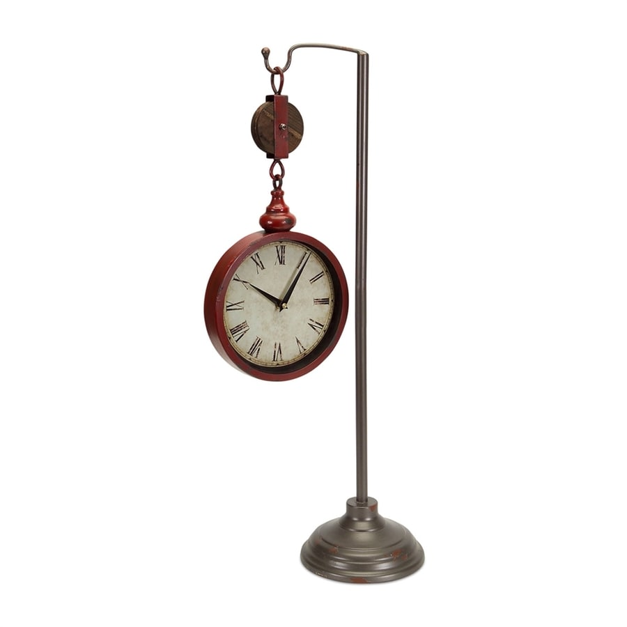 Melrose International Pulley Analog Novelty Indoor Post Clock
