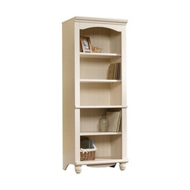 sauder harbor view antiqued white 5shelf bookcase