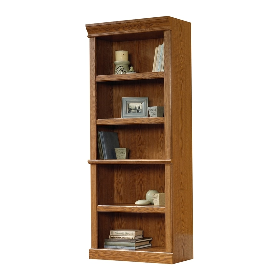 Sauder Orchard Hills Carolina Oak 5 Shelf Bookcase At