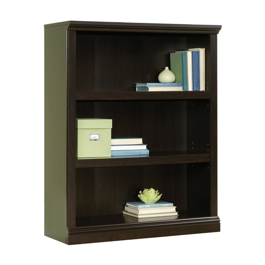 Sauder Jamocha Wood 3-Shelf Bookcase