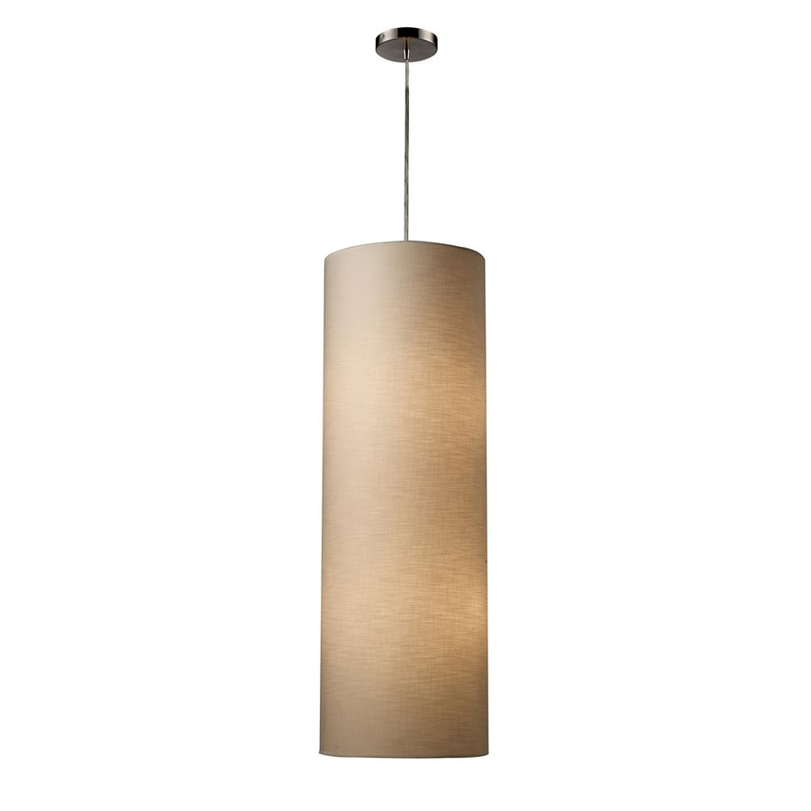 Westmore Lighting Hughes 12-in Satin Nickel Single Cylinder LED Pendant