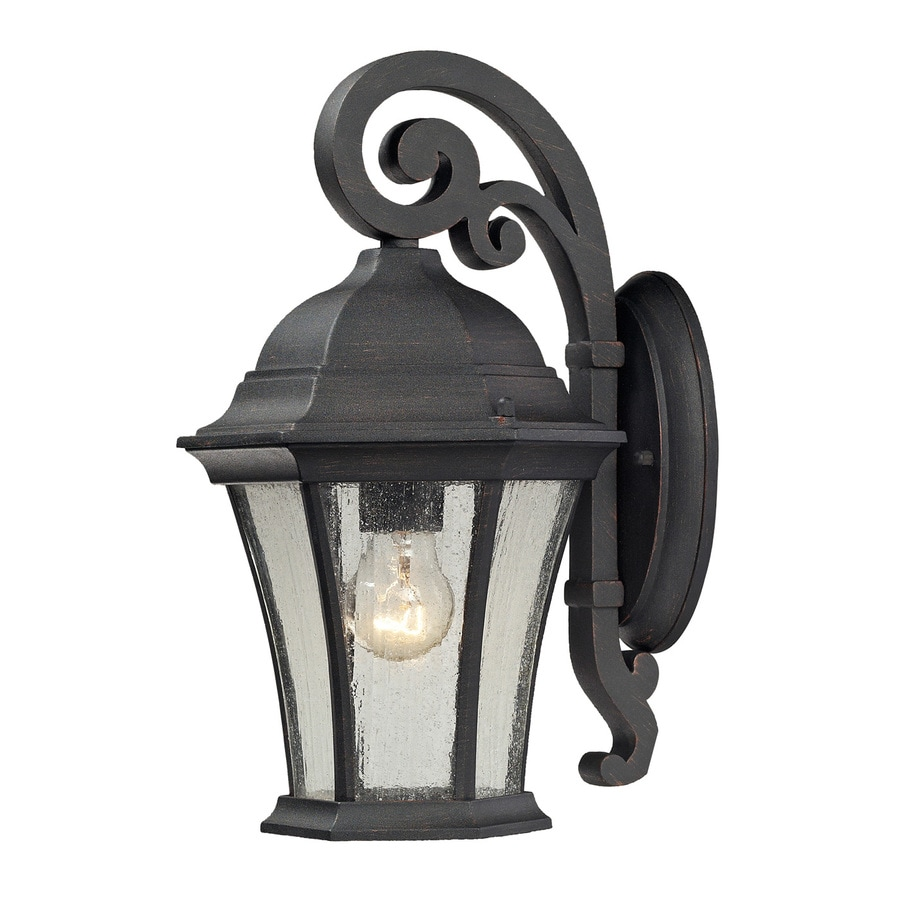 Westmore Lighting Wellington Park 14-in H Weathered Charcoal Medium Base (E-26) Outdoor Wall Light