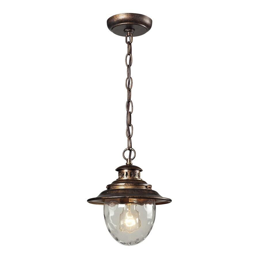 Westmore Lighting Searsport 10-in Regal Bronze Outdoor Pendant Light