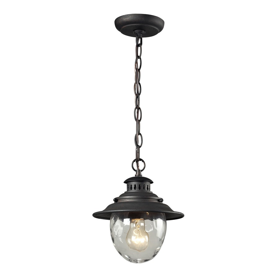 Westmore Lighting Searsport 10-in Weathered Charcoal Outdoor Pendant Light