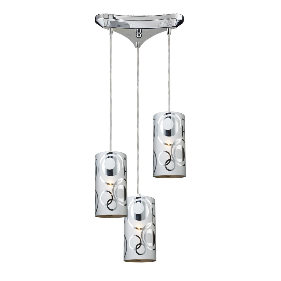 Westmore Lighting Pavant 12.875-in Polished Chrome Multi-light Cylinder Pendant