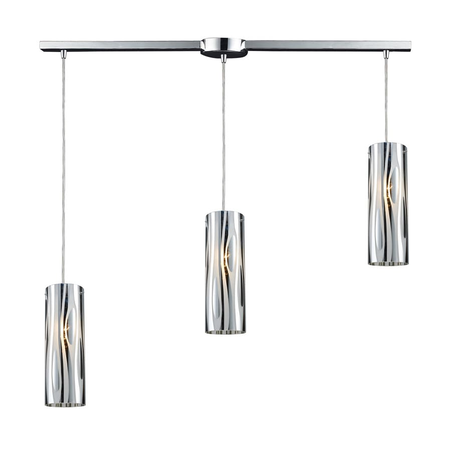 Westmore Lighting Pavant 35-in Polished Chrome Linear Cylinder Pendant