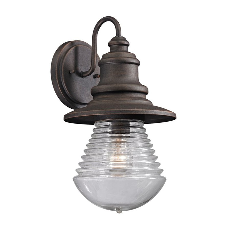Westmore Lighting Westport 15-in H Weathered Charcoal Medium Base (E-26) Outdoor Wall Light