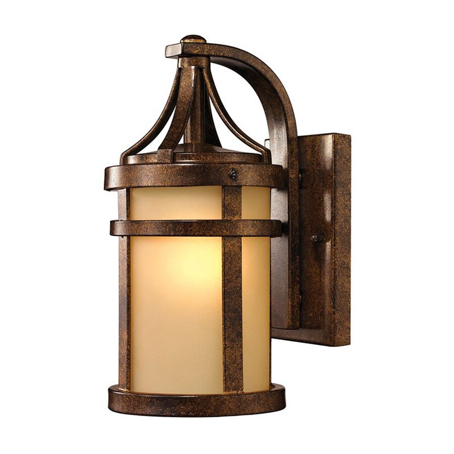 Westmore Lighting Winona 12-in H Hazelnut Bronze Medium Base (E-26) Outdoor Wall Light