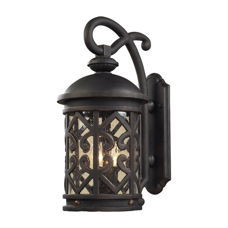 Westmore Lighting Tuscany Coast 18-in H Weathered Charcoal Candelabra Base (E-12) Outdoor Wall Light
