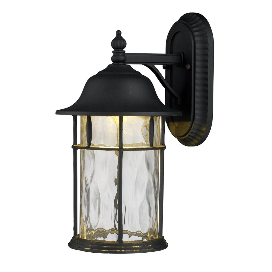 Westmore Lighting Lapuente 17-in H Matte Black Led Outdoor Wall Light