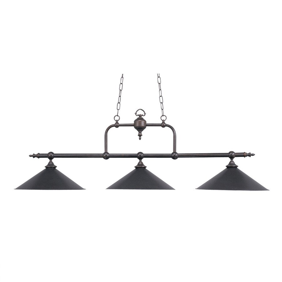 Westmore Lighting 63-in W 3-Light Tiffany Bronze Contemporary/Modern Kitchen Island Light with Shade