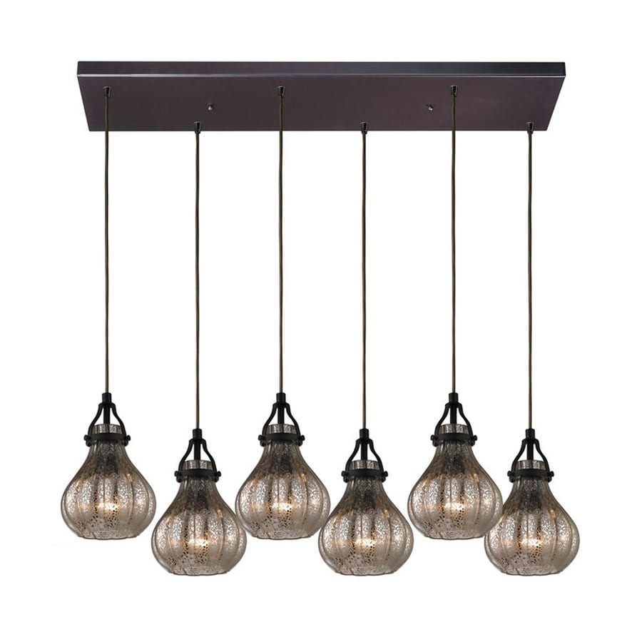 oil rubbed bronze kitchen lighting shop westmore lighting danica 30 in w 6 light rubbed 7150
