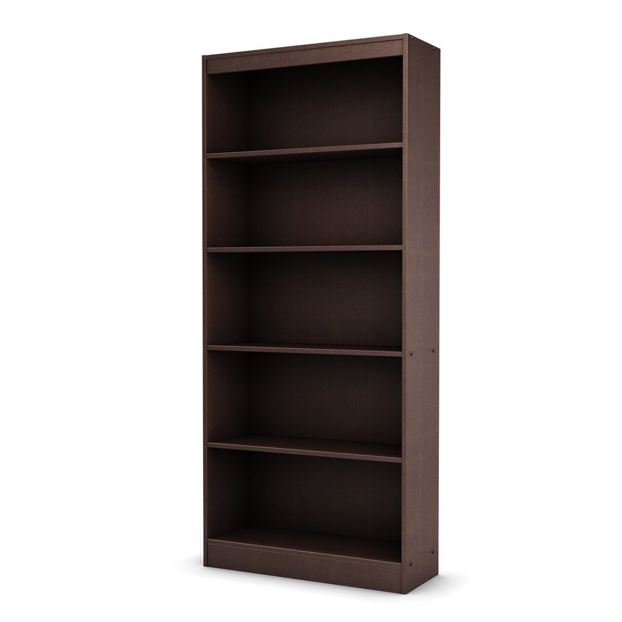 South Shore Furniture Axess Chocolate 5-Shelf Bookcase
