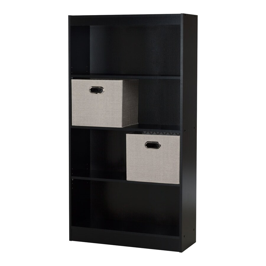 South Shore Furniture Axess Pure Black 4-Shelf Bookcase