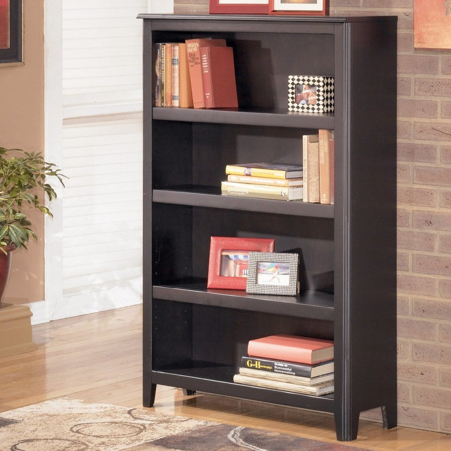 Signature Design by Ashley Carlyle Almost Black Wood 4-Shelf Bookcase