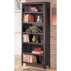 signature design by ashley carlyle almost black wood 6shelf bookcase