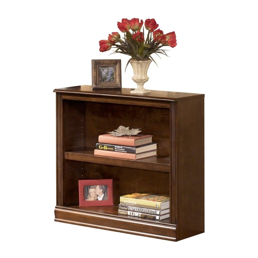 Signature Design by Ashley Hamlyn Medium Brown Wood 2-Shelf Bookcase