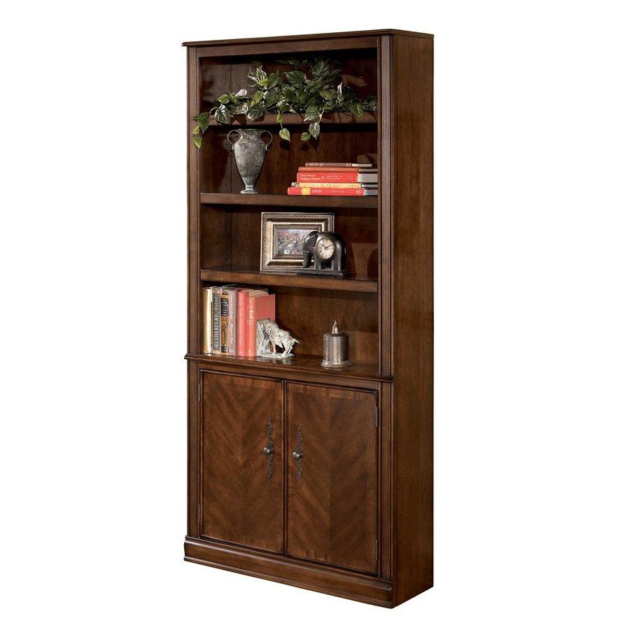 Signature Design by Ashley Hamlyn Medium Brown Wood 4-Shelf Bookcase