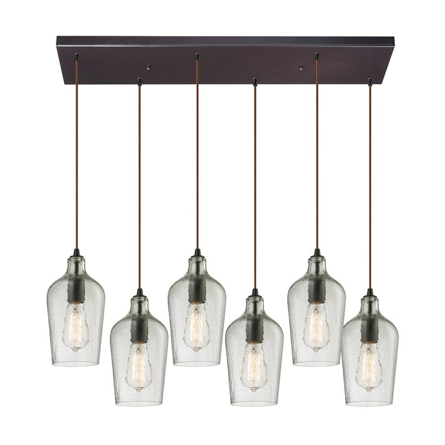 Westmore Lighting 30-in W 6-Light Oil-Rubbed Bronze Contemporary/Modern Kitchen Island Light with Shade