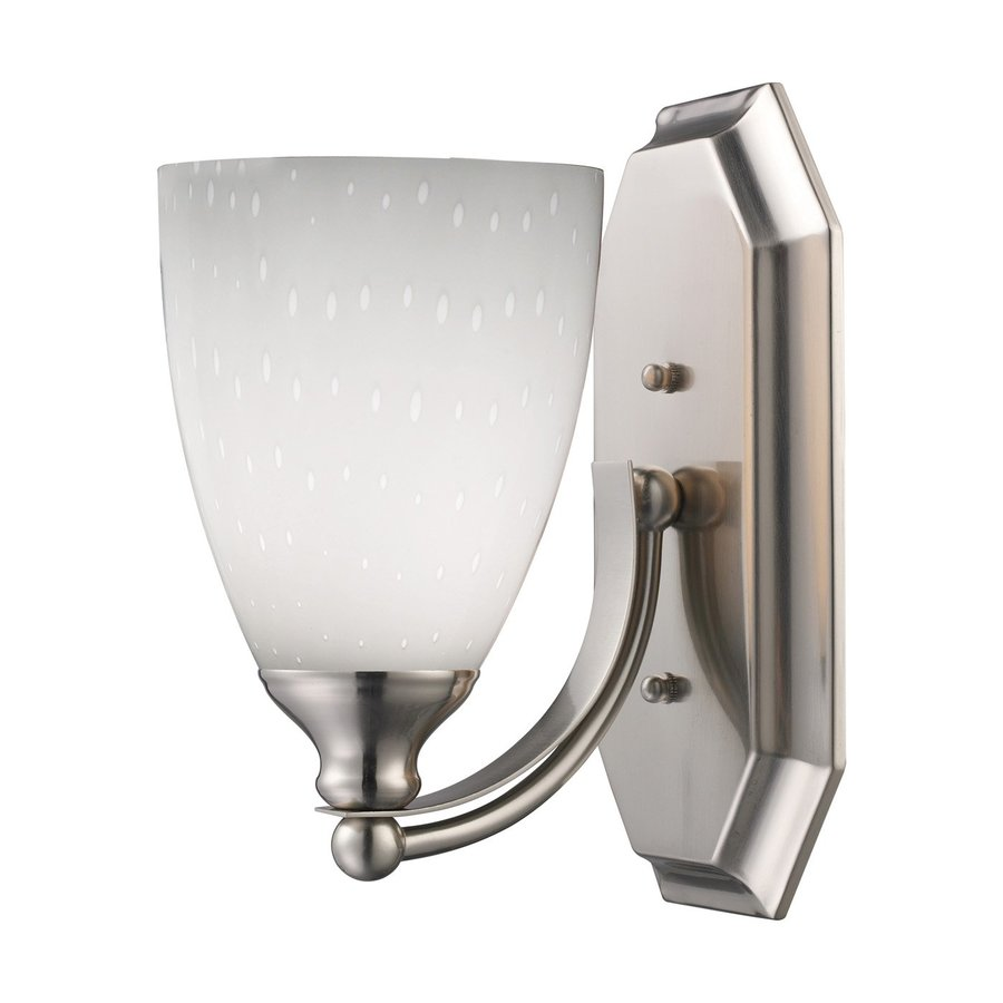 Westmore Lighting Homestead 5-in W 1-Light Satin Nickel Arm Wall Sconce