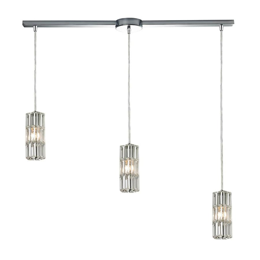 Westmore Lighting Keswick 34-in Polished Chrome Linear Crystal Cylinder Pendant