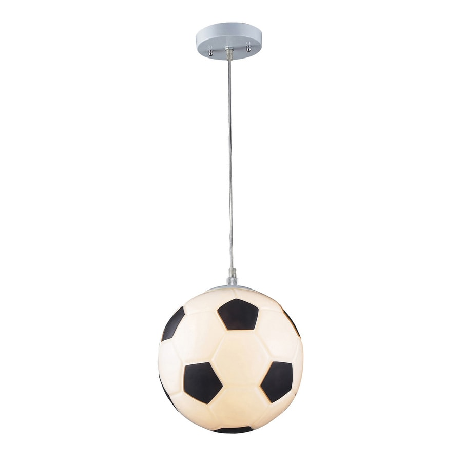 Westmore Lighting Omnibus 9.875-in Silver Novelty Single Orb LED Pendant