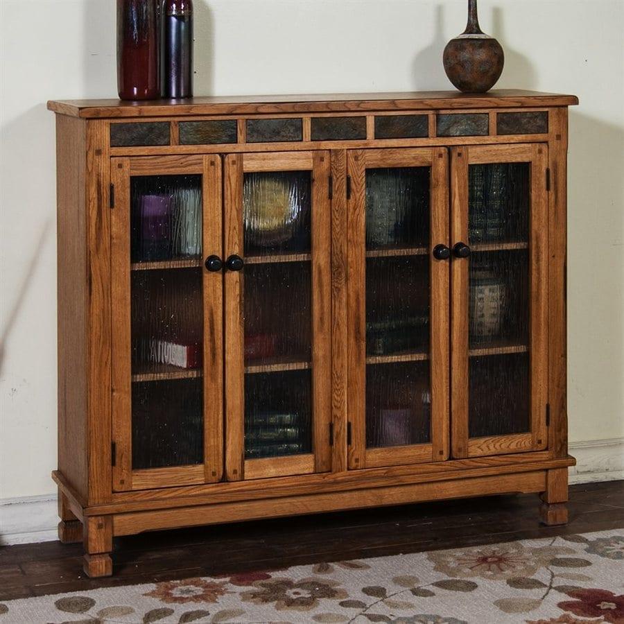 Sunny Designs Sedona Rustic Oak Wood 3-Shelf Bookcase
