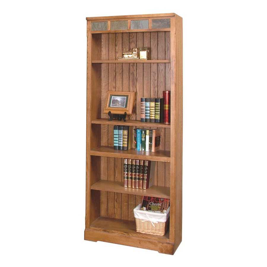 Sunny Designs Sedona Rustic Oak Wood 5-Shelf Bookcase