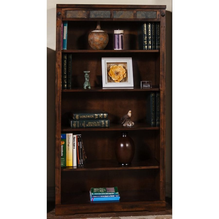 Sunny Designs Santa Fe Dark Chocolate Wood 5-Shelf Bookcase
