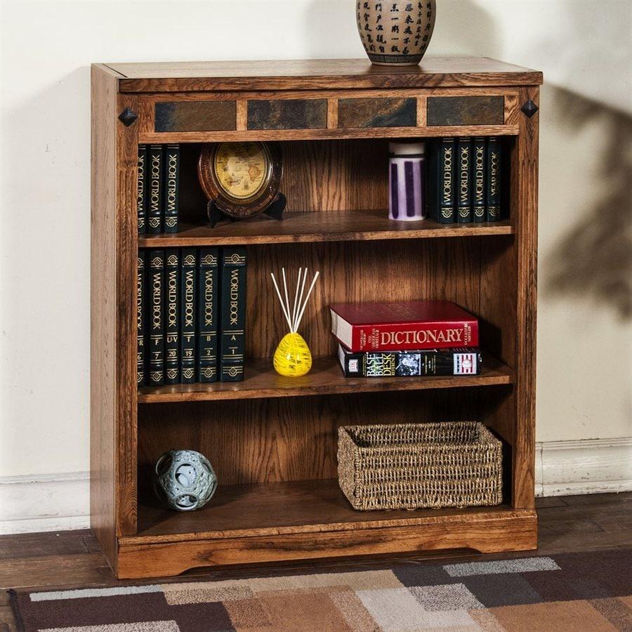 Sunny Designs Sedona Rustic Oak Wood 3 Shelf Bookcase