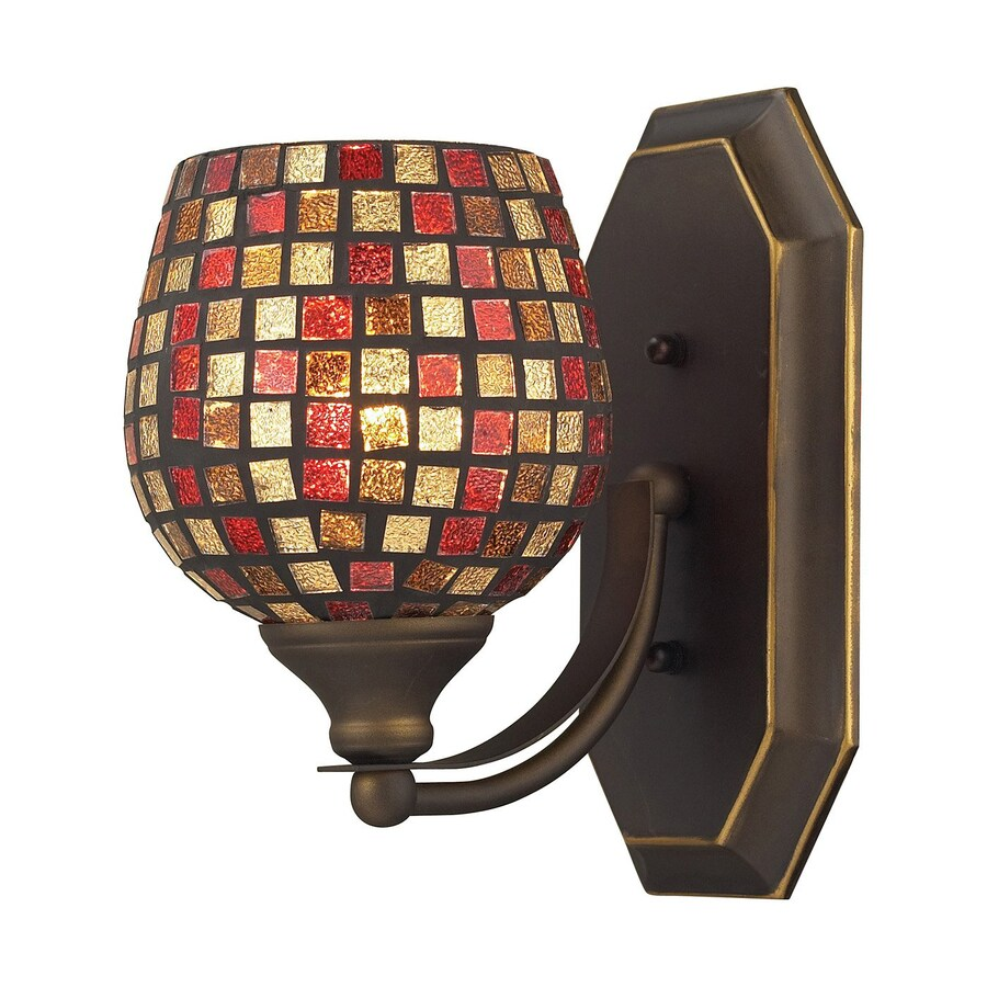 Westmore Lighting Homestead 5-in W 1-Light Aged Bronze Arm LED Wall Sconce