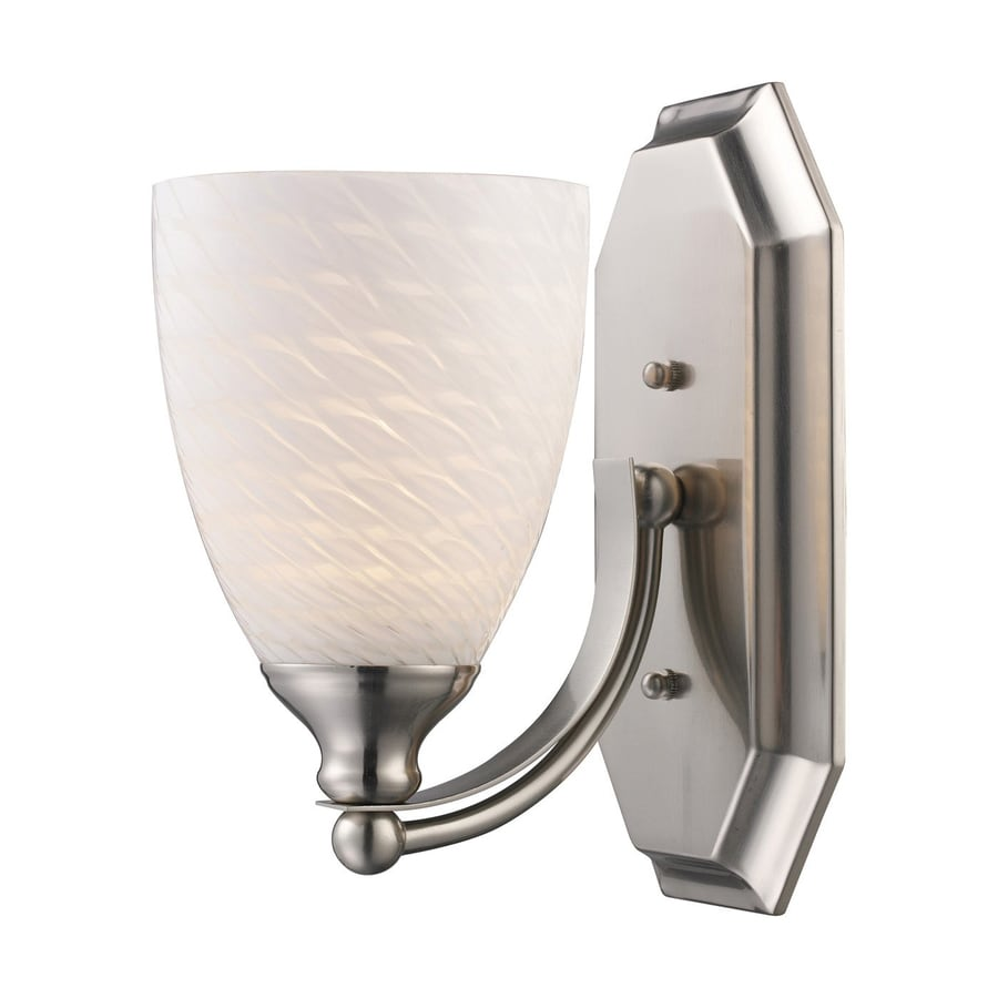 Westmore Lighting Homestead 5-in W 1-Light Satin Nickel Arm LED Wall Sconce