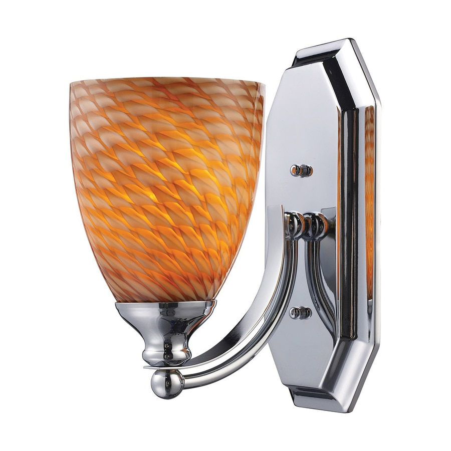 Westmore Lighting Homestead 5-in W 1-Light Polished Chrome Arm LED Wall Sconce