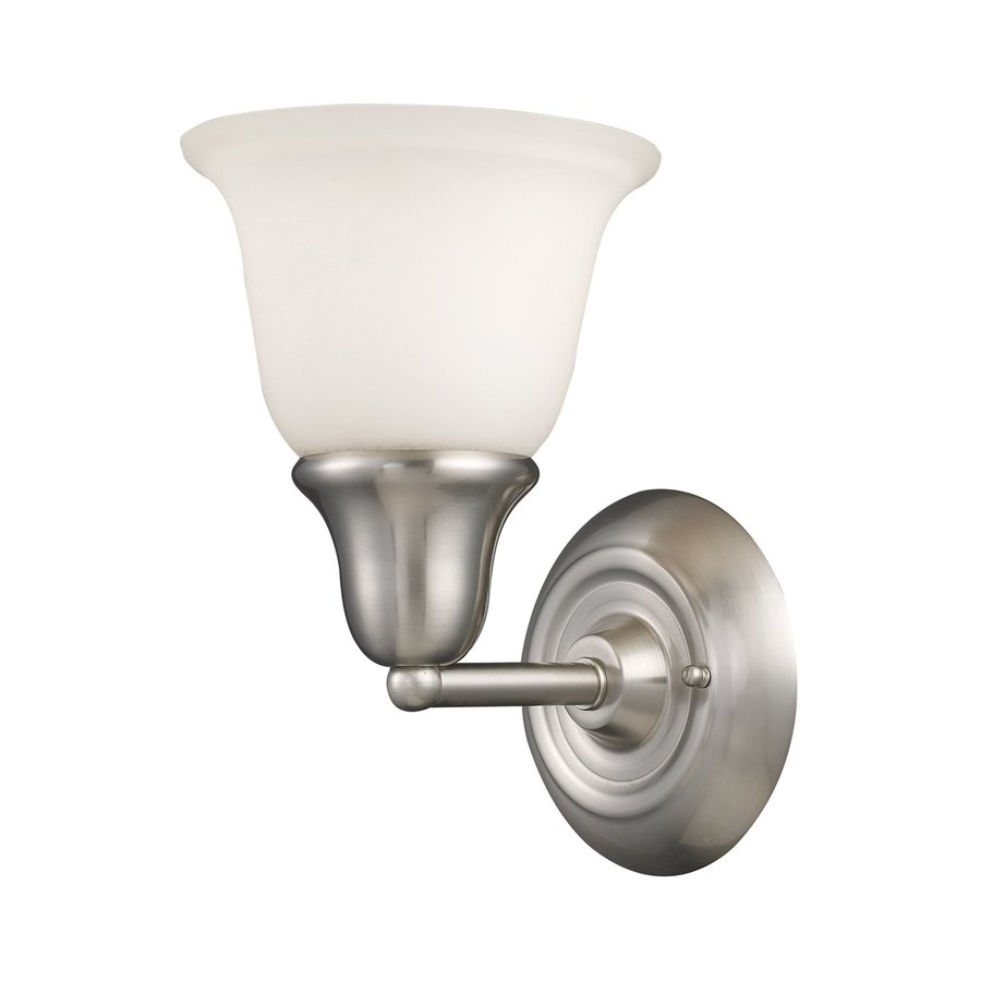Westmore Lighting Ashington 7-in W 1-Light Brushed Nickel Arm Wall Sconce