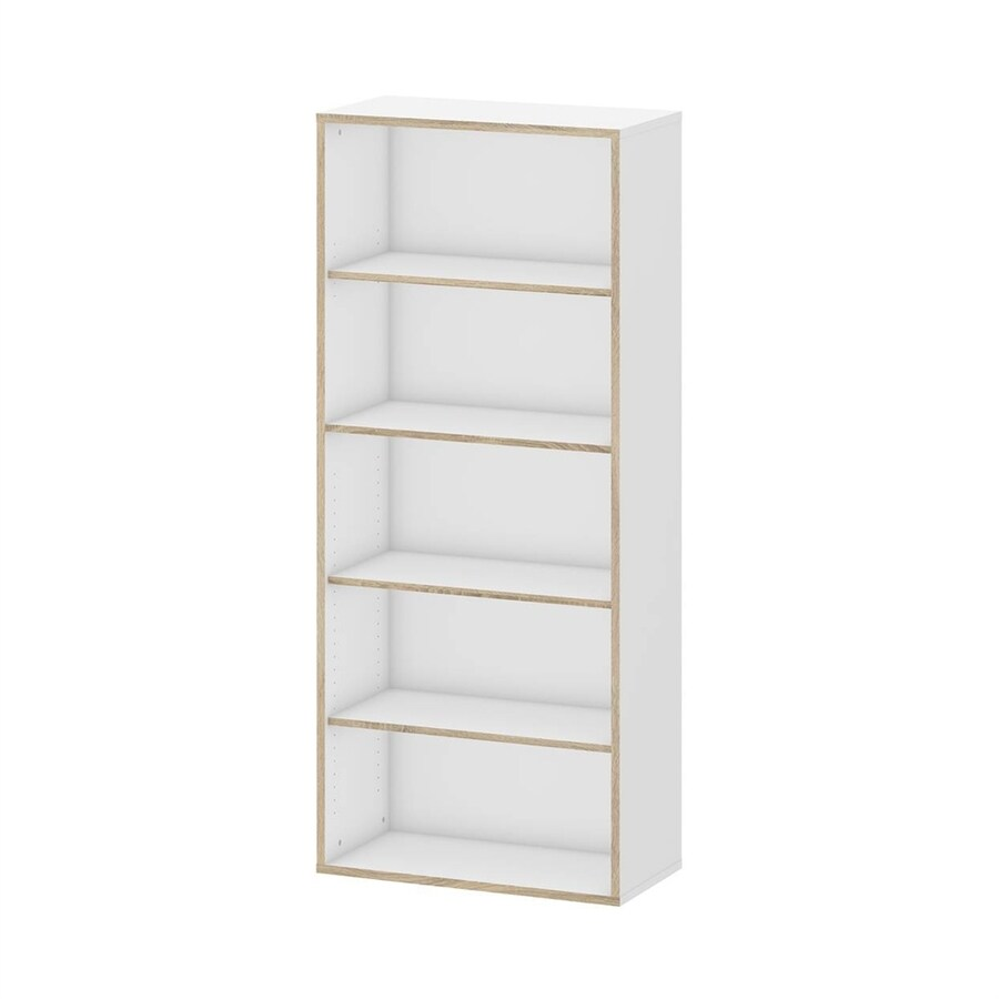 tvilum hamilton white oak 5 shelf bookcase at. Black Bedroom Furniture Sets. Home Design Ideas