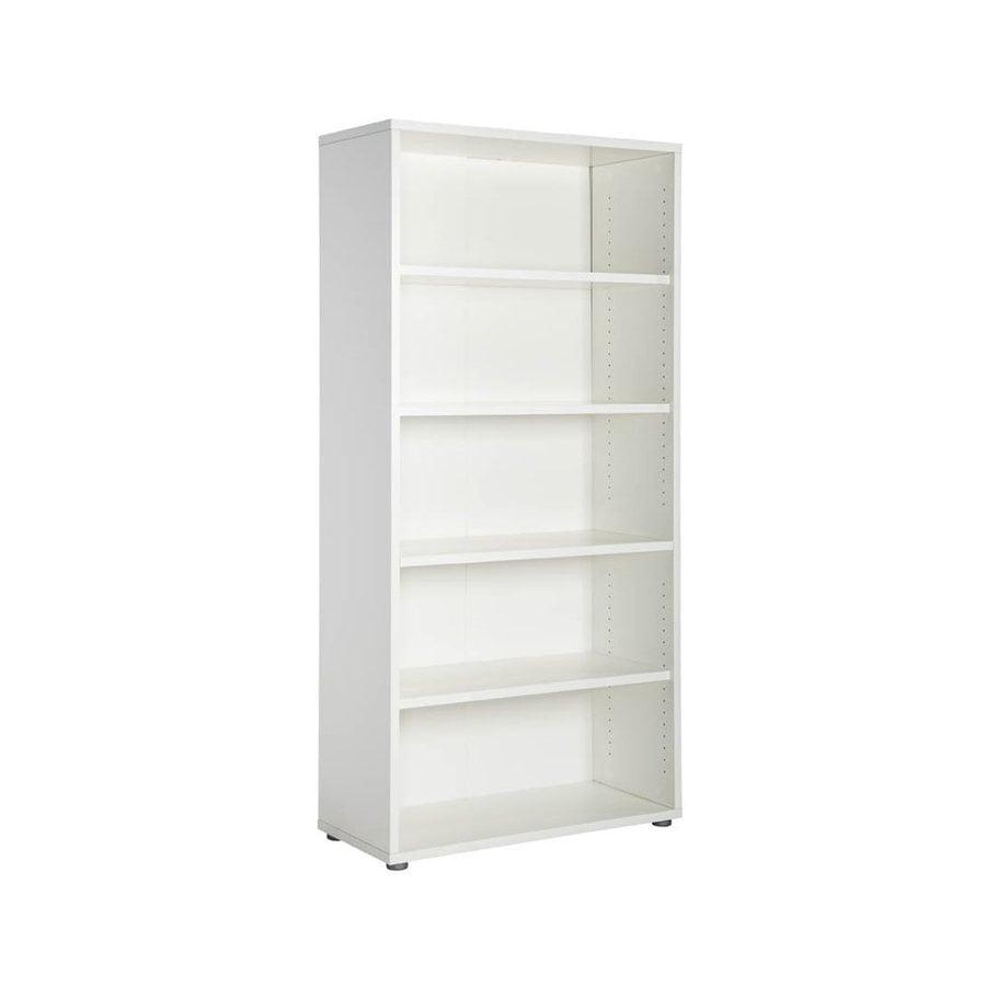tvilum pierce white 5 shelf bookcase at. Black Bedroom Furniture Sets. Home Design Ideas