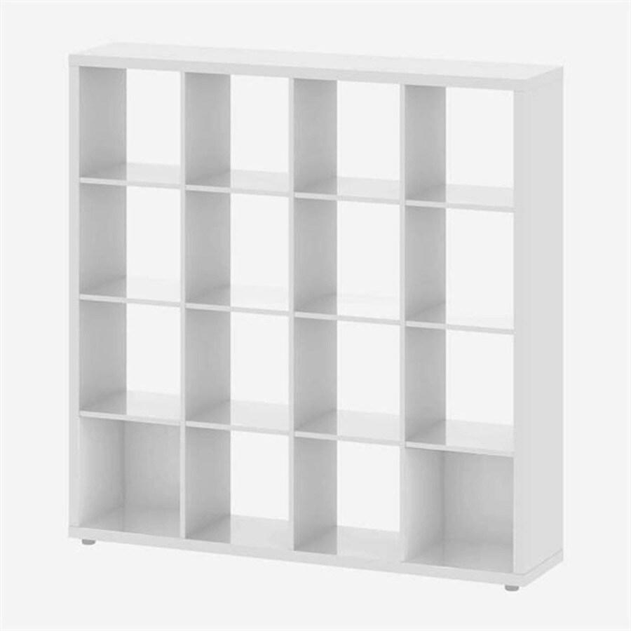 Tvilum Demi High Gloss White 14-Shelf Bookcase