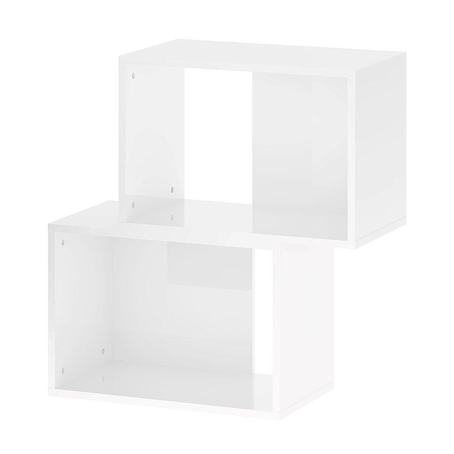 Tvilum Baja High Gloss White 2-Shelf Bookcase At Lowes.com