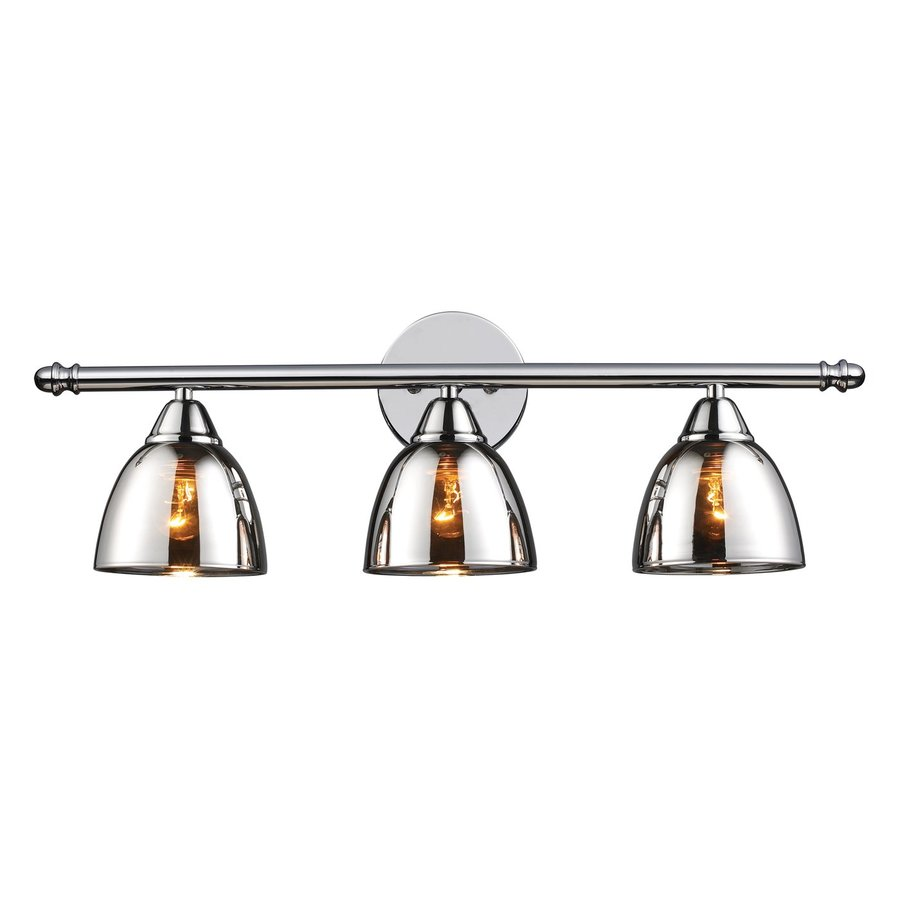 Westmore Lighting Morfield 3-Light 8-in Polished Chrome Bell Vanity Light