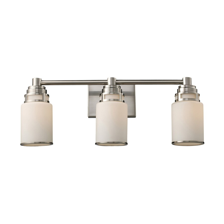 Westmore Lighting Echo Park 3-Light 8.5-in Satin Nickel Cylinder LED Vanity Light