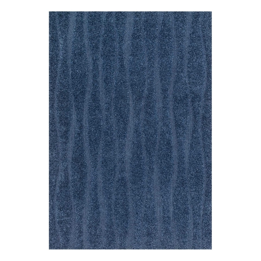 Loloi Enchant Navy Square Indoor Machine-Made Area Rug (Common: 7 x 7; Actual: 7.58-ft W x 7.58-ft L)