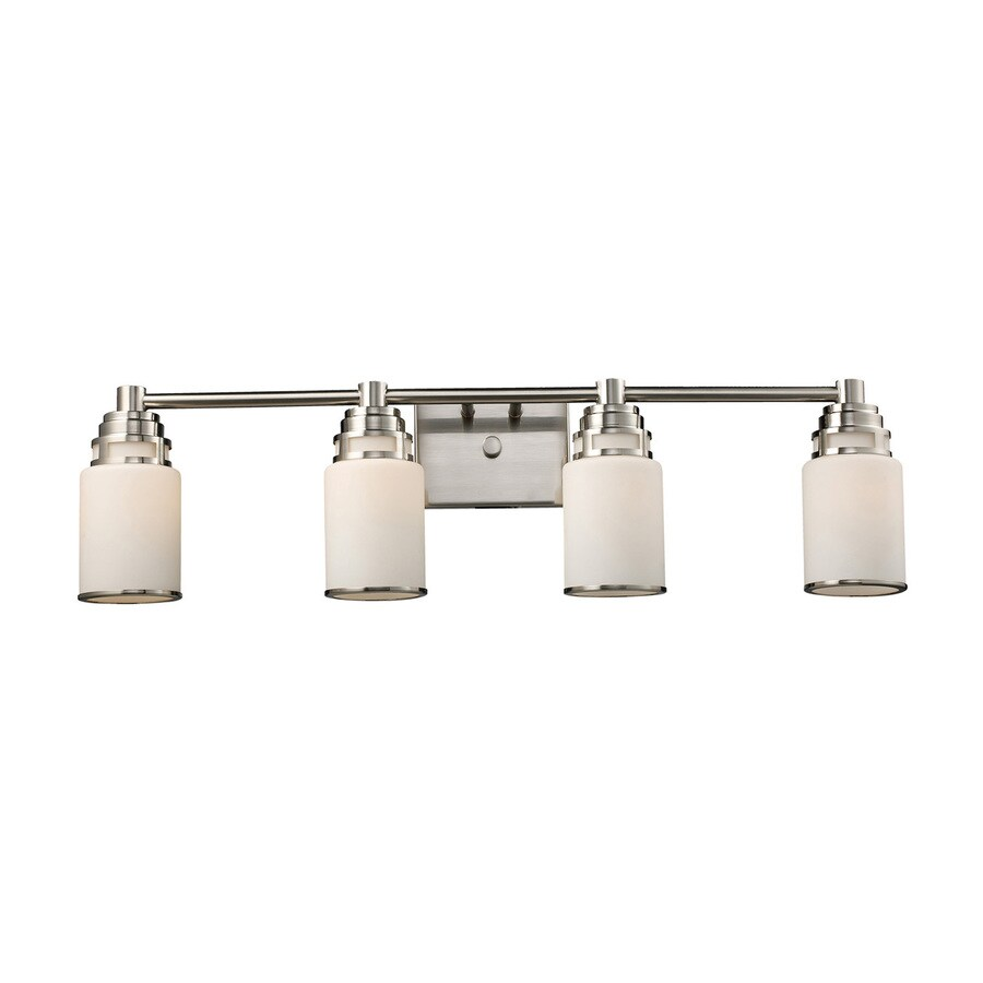 Westmore Lighting Echo Park 4-Light 8.5-in Satin Nickel Cylinder LED Vanity Light