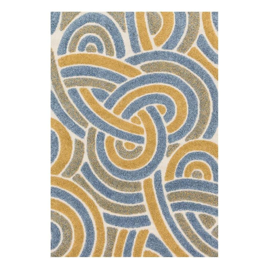 Loloi Enchant Multicolor Square Indoor Machine-Made Area Rug (Common: 7 x 7; Actual: 7.58-ft W x 7.58-ft L)