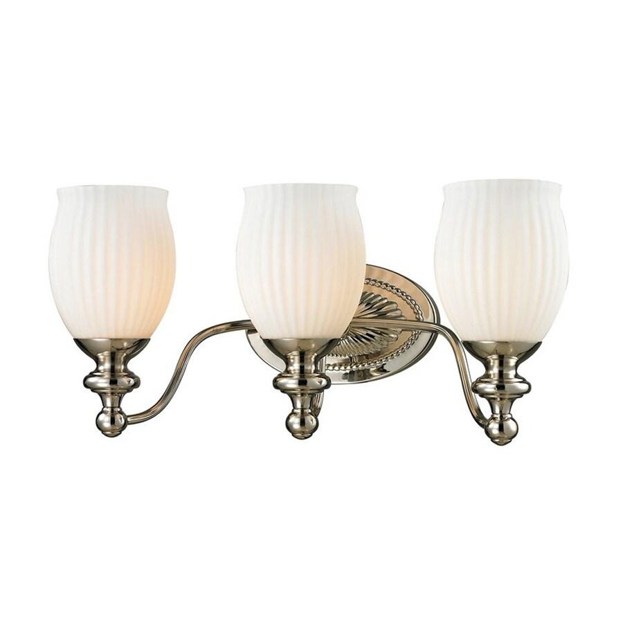 Westmore Lighting Grosvenor 3-Light 9-in Polished Nickel Bell LED Vanity Light