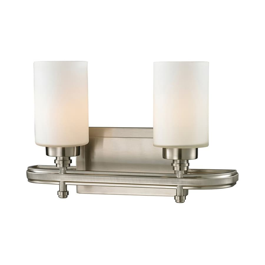 Westmore Lighting Balfour 2-Light 10-in Brushed Nickel Cylinder LED Vanity Light